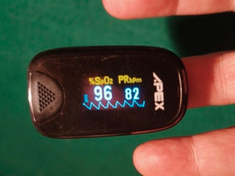 Sensor que mide el Oxigeno en la sangre y los latidos del corazón